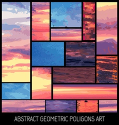 Set of geometrical abstract colrful backgrounds vector