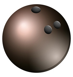 Gray bowling ball on white vector