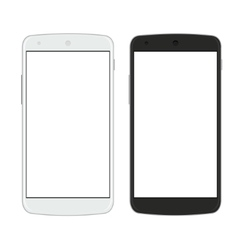 Modern smartphones isolated on white vector