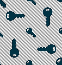 Key sign icon unlock tool symbol seamless pattern vector