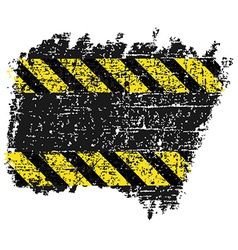Grungy background texture with black and yellow vector