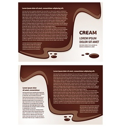 Brochure folder cream element design vector
