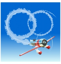 Plane and wedding message vector