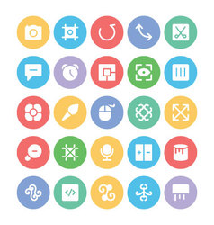 Design and Development Icons 12 vector image