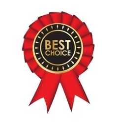 Best choice realistic red fabric award ribbon vector