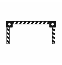 Barrier icon simple style vector