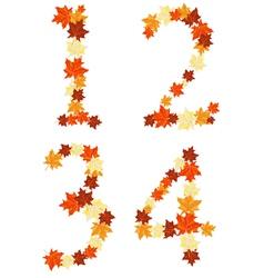 Autumn letter vector