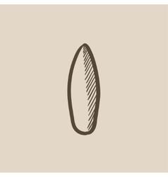Surfboard sketch icon vector