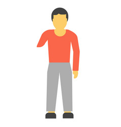 amputee faceless person without hand vector image vector image
