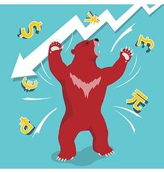 Bear market downtrend stock market vector