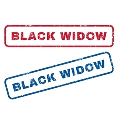 Black widow rubber stamps vector