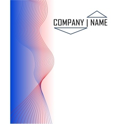 blue and red background vector image