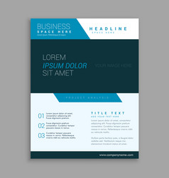 blue modern company brochure design vector image vector image