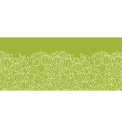 Cactus plants horizontal seamless pattern vector image vector image