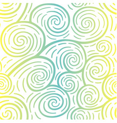 curls seamless pattern colorful vector image vector image
