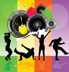 Dancing people with speaker vector
