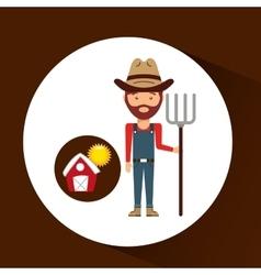 farm countryside people farmer design vector image vector image