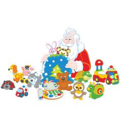 Gifts of santa claus vector