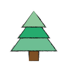 Isolated cute tree vector