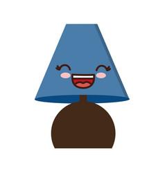 Kawaii lamp icon vector