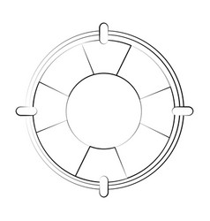 life buoy saving floating vector image