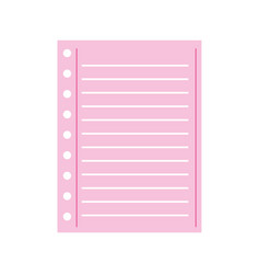 lined paper note page blank school vector image