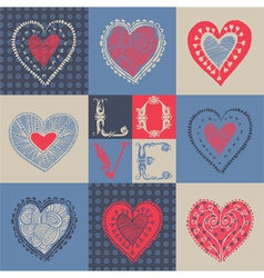Love card Seamless pattern vector image