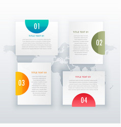 Modern four steps white infograph layout design vector