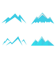 Mountains icons and symbols vector