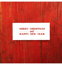 new year greeting card design template on red vector image vector image