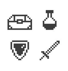 Pixel game set vector