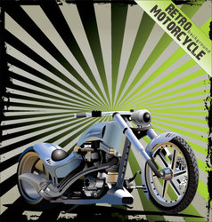 retro motorcycle background vector image vector image