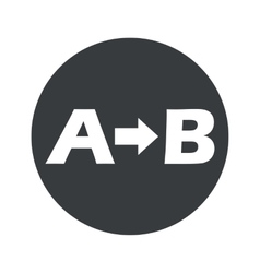 Round a to b icon vector