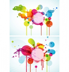 set of abstract colored circles vector image vector image