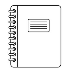 spiral notepad icon outline vector image