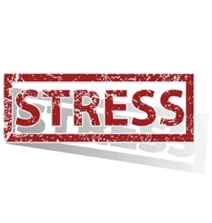 Stress outlined stamp vector