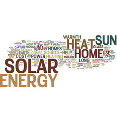 The cost of solar energy text background word vector