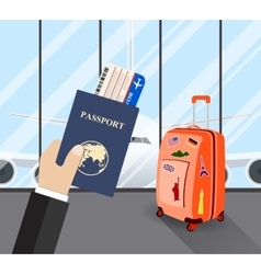 Travel business trip concept vector