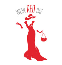 wear red day vector image vector image