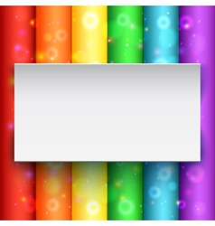 White banner on abstract background vector image vector image