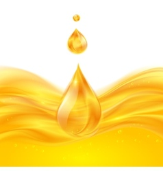 Yellow liquid oil background vector image vector image
