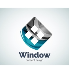 Window logo template vector