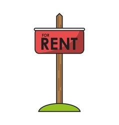 Isolated rent road sign design vector