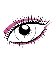 Sketch of human eye on a white background Bright vector image