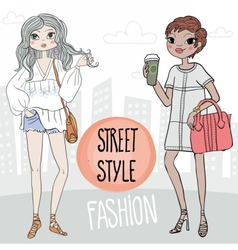 Street style vector image
