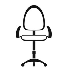 modern office chair icon simple style vector image