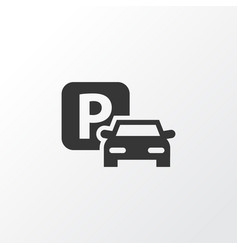 Parking icon symbol premium quality isolated road vector