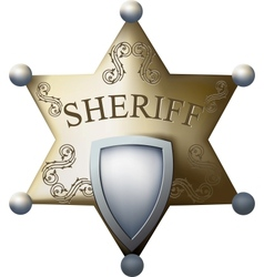 Sheriff bage vector