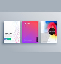 Minimal brochure set made with lines and fluid vector