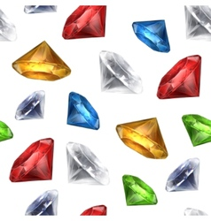 Gems seamless background vector image